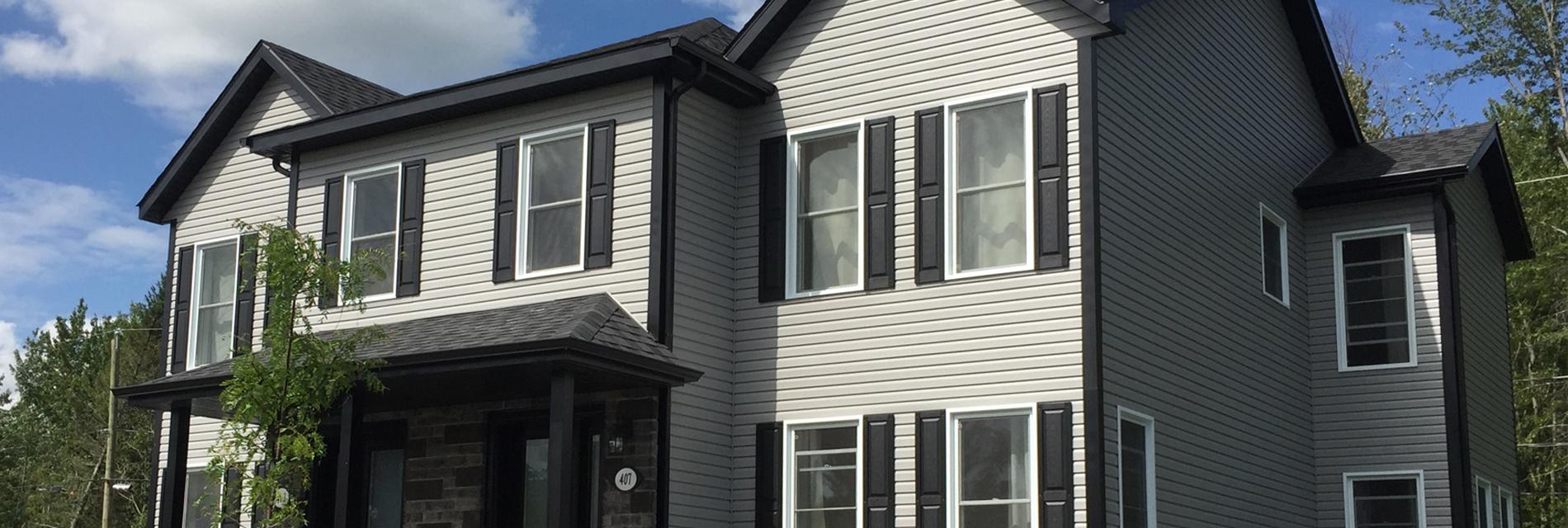 Beautiful les maisons horizon de maisons neuves for Prix maisons neuves